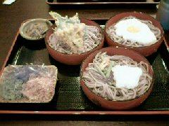 琴弾割子(山芋・うずら、舞茸、山菜おろし、本わさび付)